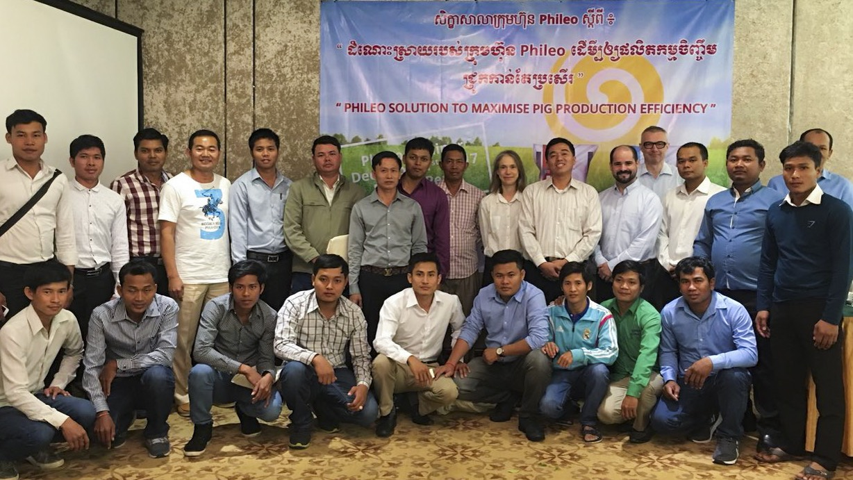 Seminar on how to maximize pig production in Cambodia with live yeast