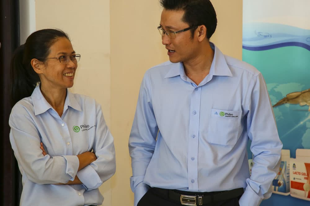 Phileo and Than Vuong present action plan to shrimp producers in Vietnam